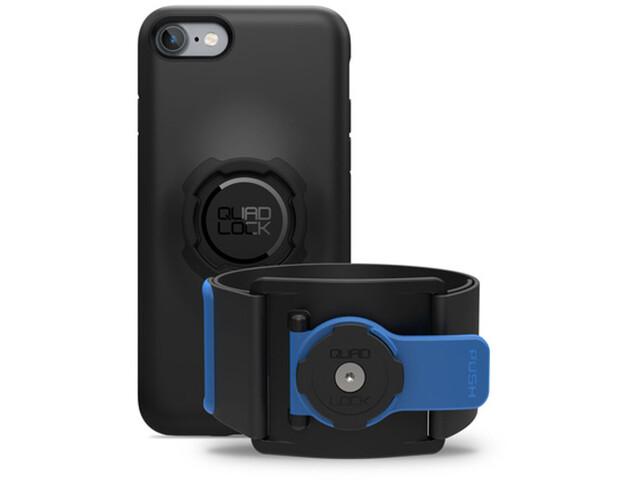 Quad Lock Run Kit iPhone 7/8 niebieski/czarny